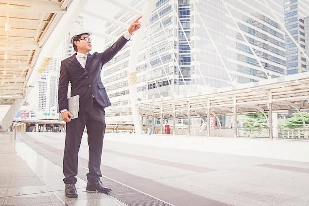 Proyecto de construcción de planificación de empresario