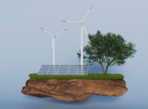 Proyecto de molino de viento 3d para ahorrar energía
