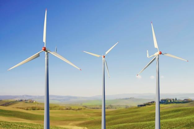Proyecto de molino de viento 3d