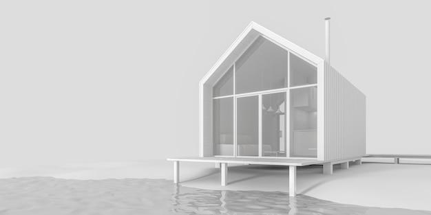 El proyecto de una pequeña casa de campo moderna.