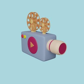 Proyector de la máquina de estilo de dibujos animados. render 3d