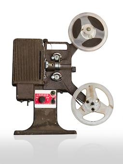 Proyector de películas analógico con carretes.