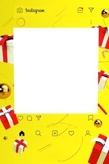 Publicación de instagram con fondo transparente