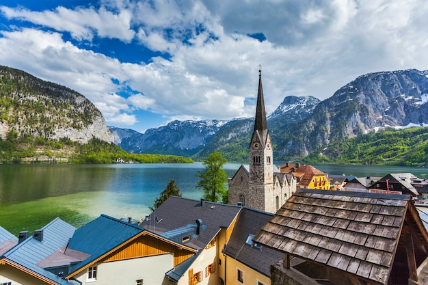 Pueblo de hallstatt, austria