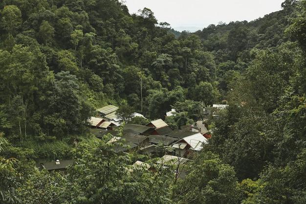 Pueblo de mae kampong en chiang mai