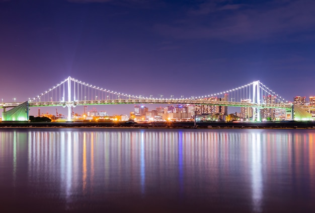 Puente del arco iris en japón.