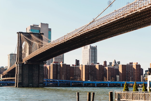 Puente de brooklyn, en, ciudad de nueva york