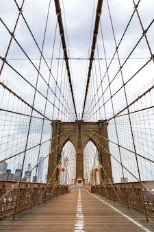 Puente de brooklyn, nadie, nueva york, ee.
