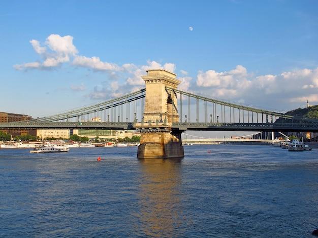 Puente de las cadenas en budapest
