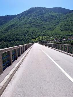 Puente en el cañón del río tara en montenegro
