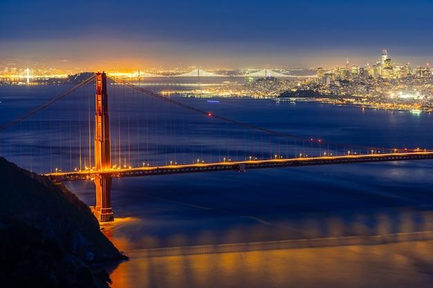 Puente golden gate puesta de sol