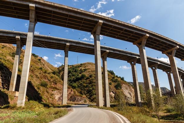 Puente de paso elevado de autopista, china