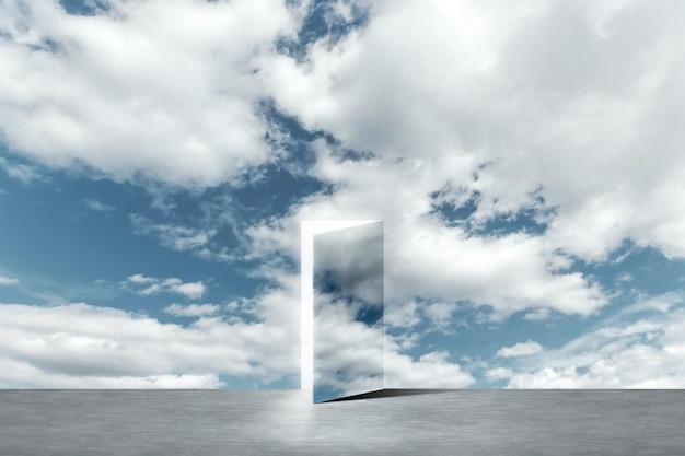 Una puerta abierta a una nueva vida en el cielo.