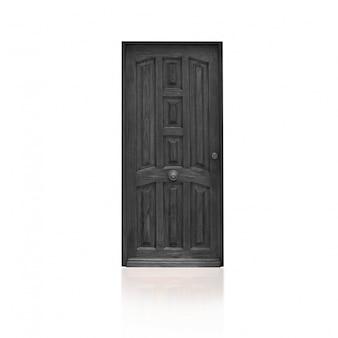 Puerta de madera gris