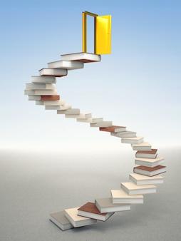Puerta de oro y libros