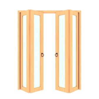 Puerta plegable woo con parrilla 3d