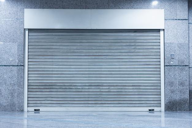 Puerta de puerta enrollable de persiana de acero para sistema de seguridad de almacenamiento de almacén