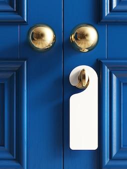 Las puertas clásicas con etiqueta vacía no molestan