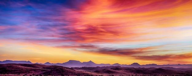 Puesta de sol en áfrica