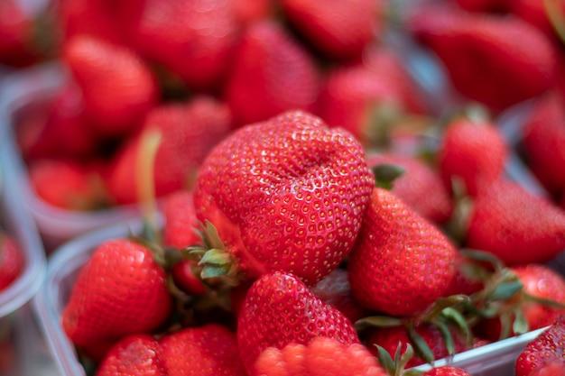 Punnet de fresa fresca