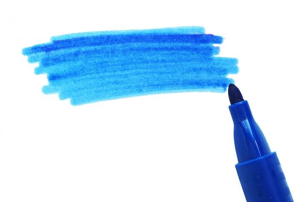 El punto sombreado es azul oscuro y un marcador abierto. copyspace