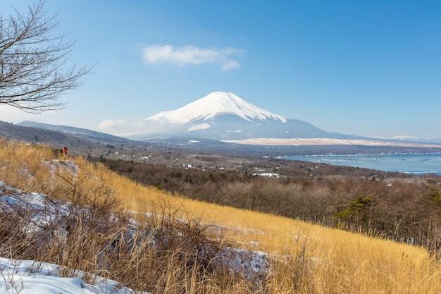 Punto de vista panorámica fujisan yamanaka lake