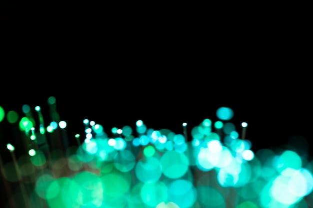 Puntos borrosos de luz y espacio de copia