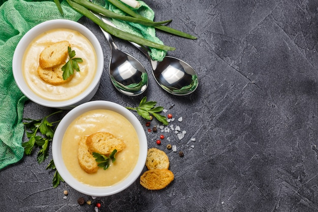 Puré de sopa de verduras
