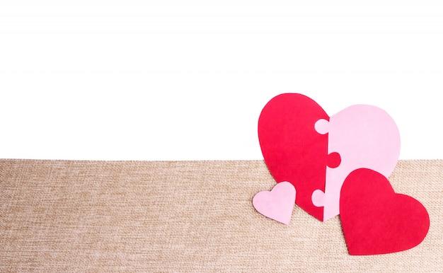 Puzzle heart en yute