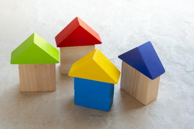 Puzzle house puzzle para concepto de negocio global