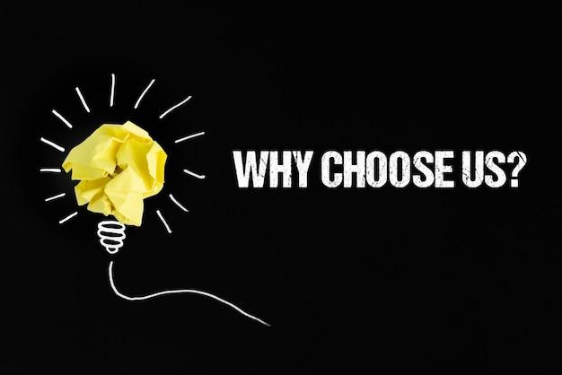 ¿por qué elegirnos pregunta con bombilla de papel?