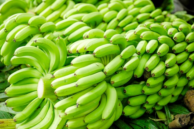 Racimo de plátano verde