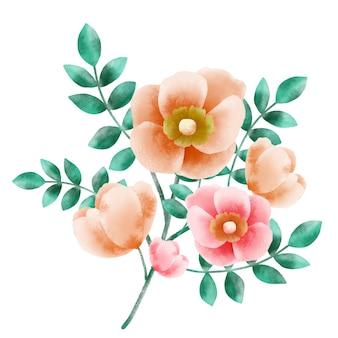 Rama de flor de rosal