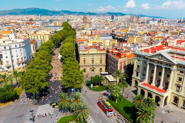 La rambla en barcelona, cataluña, españa