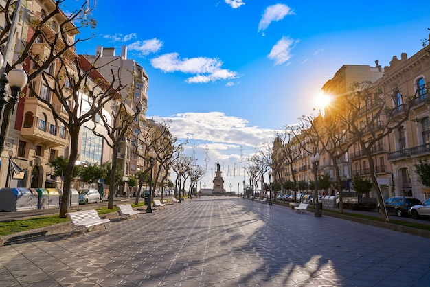 Rambla nova en tarragona de cataluña Foto Premium