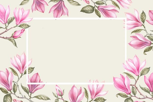 Ramo de magnolia. tarjeta de invitación para bodas, cumpleaños y otras vacaciones y verano.