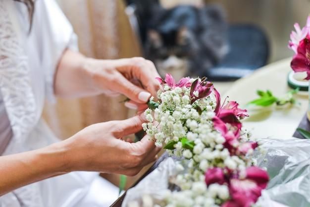 Ramo de novia con flores