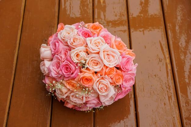 Ramo de novia de rosas rosadas ramo de novia rosa