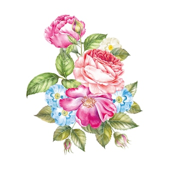 Ramo de rosas.