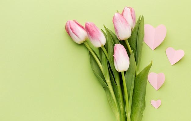 Ramo de tulipanes del día de la madre