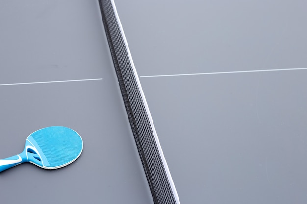 Raqueta y red para equipos de tenis de mesa