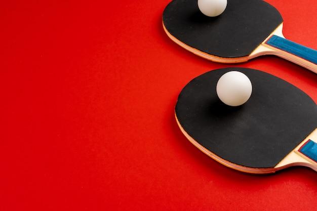 Raquetas de ping pong negras