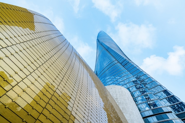 Los rascacielos del centro financiero, shangai, china