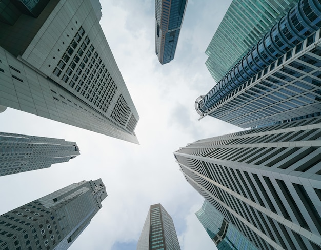 Rascacielos en el distrito central de negocios de singapur