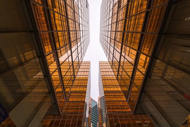 Rascacielos en el distrito de negocios