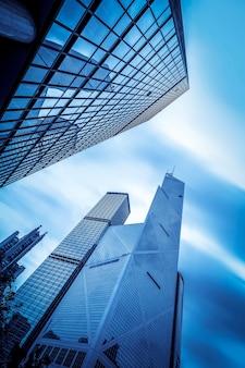 Rascacielos de edificio comercial de hong kong