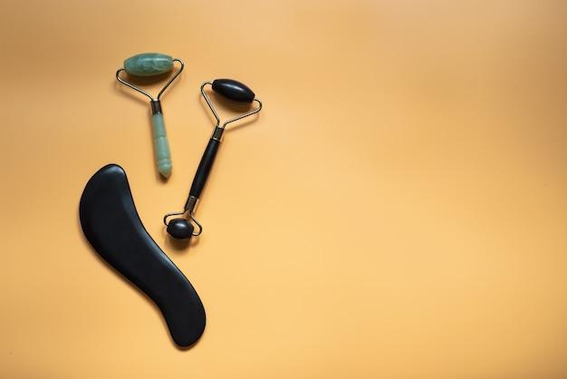 Raspadores y rodillos de masaje guasha, masaje de acupuntura tradicional chino
