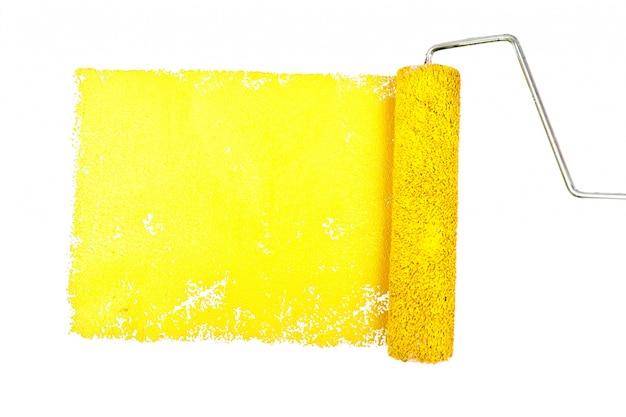 Un rastro amarillo de pintura