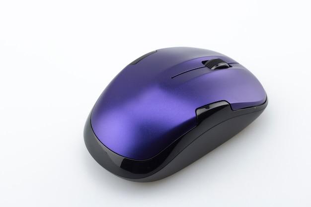 Ratón morado de ordenador