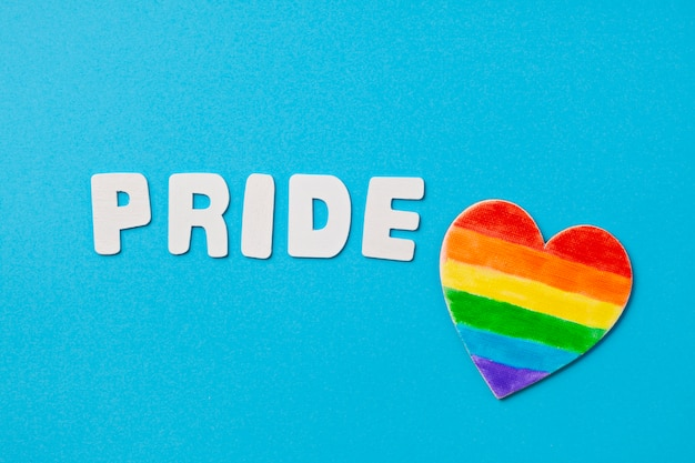 Rayas de colores del arco iris simbolizan el orgullo gay lgbt. copia espacio